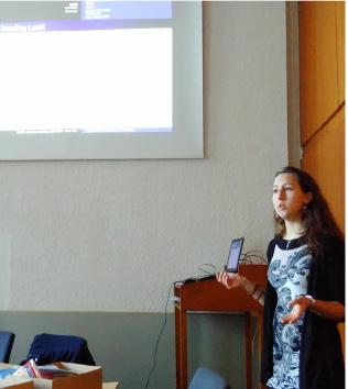 Jana stellte Programme zum Erstellen akademischer Texte vor.