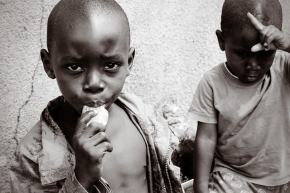 Photography in sepia or b/w is popular in Western media when Africa is depicted negatively, as place of problems or as needing help.