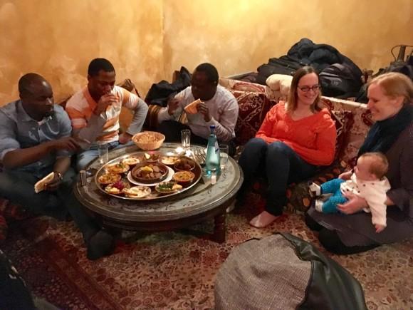 Abendessen & Netzwerken am ersten Abend im Restaurant Baraka