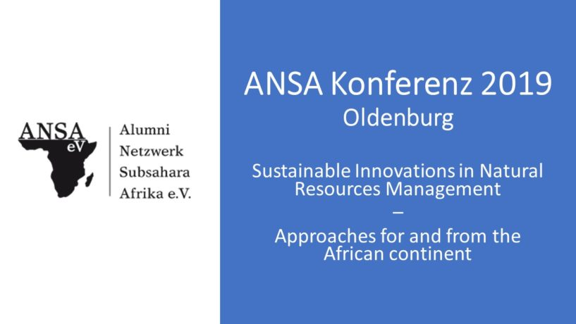 Sustainable Innovations in Natural Ressource managment - Approaches for and from the African Continent
